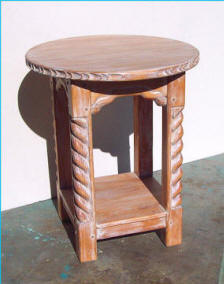 Great Southwest Accent Table, Honey White Brush