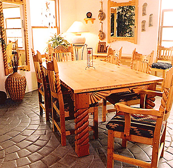 Great Southwest Dining Set, Honey Stain