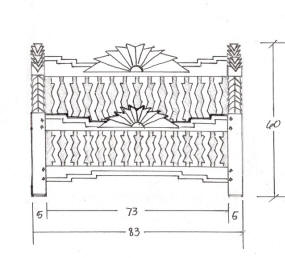 Navajo Indian Bed Drawing