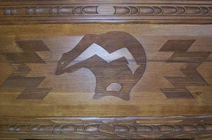 Mimbres Bear Carving Detail