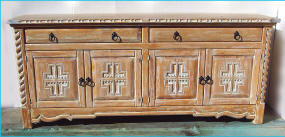 Mission Buffet, 4 Doors 2 Drawers