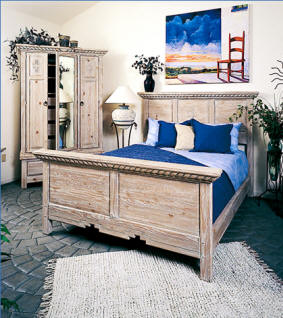 Mission Bedroom Set, Adobe Stain With Cream Rub