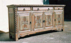 Mission Buffet, 4 Doors 3 Drawers
