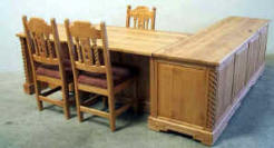 Mission Office Set With Return Available in Pine & Alder Woods