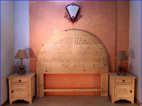 New Mexico Sunset, Headboard And Night Stands