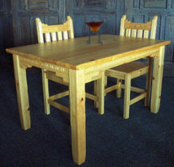 New Mexico Dinette, Natural Stain