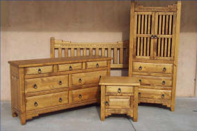 New Mexico Bedroom Set Honey Stain
