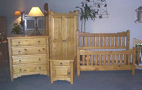 New Mexico Complete Bedroom Set, Honey Stain
