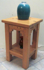 New Mexico Accent Table Baja Wood Stain