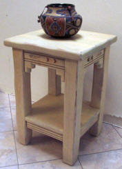 New Mexico Accent Table Pickled Oak Stain