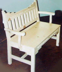 New Mexico Bench, Pickled Oak