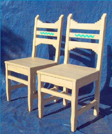 Picos Side Chairs Wooden Seat, Whitewashed