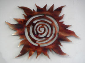 Spiral Sun Wall Hanging Art By Sonoran Designs