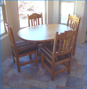 "Southwest Dining Set ""Sandia Round"""