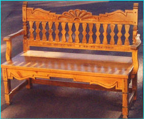 Santa Ana Bench, Fruitwood Stain