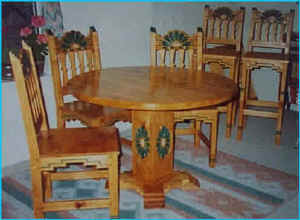 Santa Ana Round Dining Set With Barstools