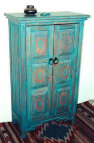 Zuni Jewelry Cabinet, Closed View