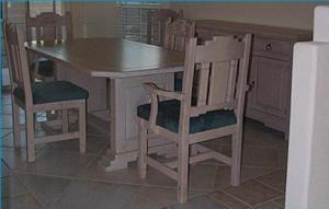Zuni Southwest Style Dining Set Tables Chairs China Cabinets