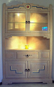 Anasazi Corner Cabinet With Interior Lights