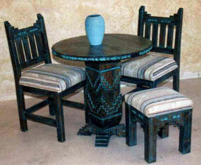 Laguna Accent Tables With New Mexico Chairs & Stool