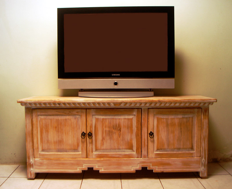 Television Stand Designed With Wood Furniture
