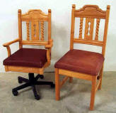 Mission Office Chairs Available in Pine & Alder Woods