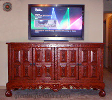 Old World Flat Screen TV Furniture