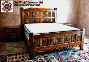 Old world style bedroom furniture - Southwest style bedroom furniture ...