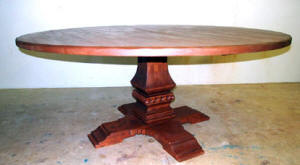 "Old World Round Dining-Casual Table, 60"" Wide"