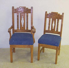 "Southwest Arm & Side Chairs ""Sandia"""