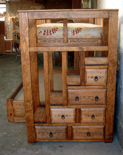 Plans for bunk bed with stairs and drawers quick woodworking projects - Bunk bed with drawer steps ...