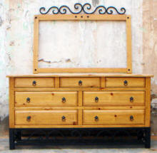 Sofia 7 Drawer Dresser And Mirror Frame With Clavos