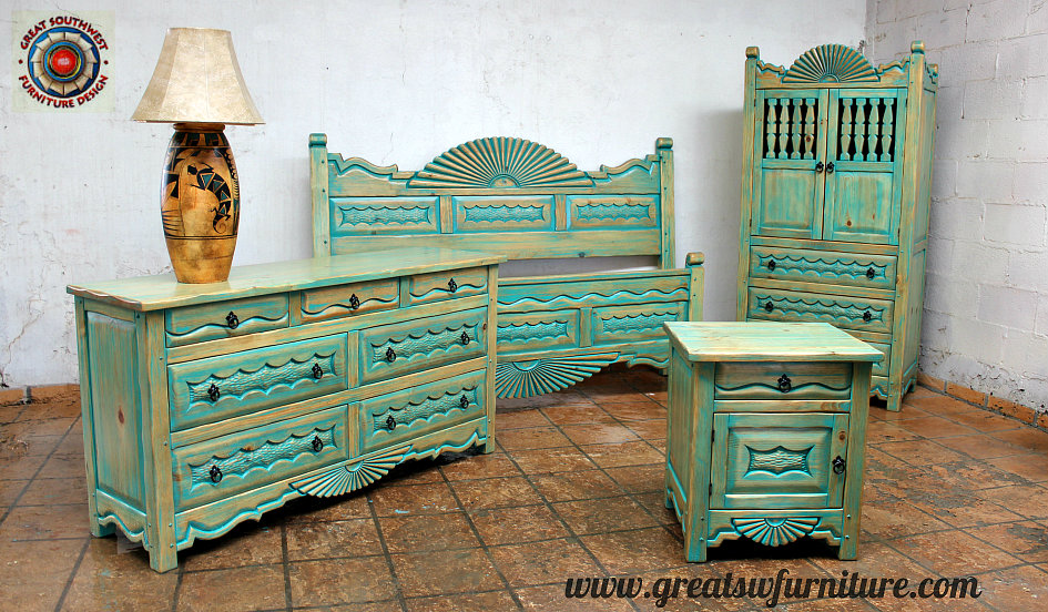 aurora special southwest bedroom furniture collection