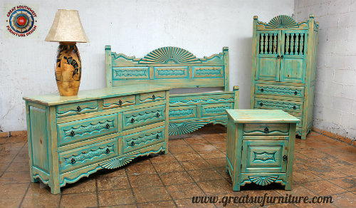 Turquoise bedroom furniture Turquoise Gray Southwest Bedroom Furniture Great Southwest Furniture Design Inc Southwest Bedroom Furniture Custom Beds Headboards Dresser