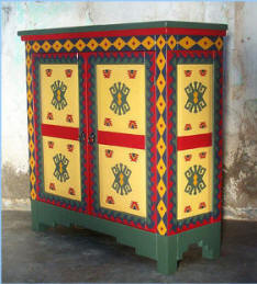Southwest-New Mexican Painted Cabinet