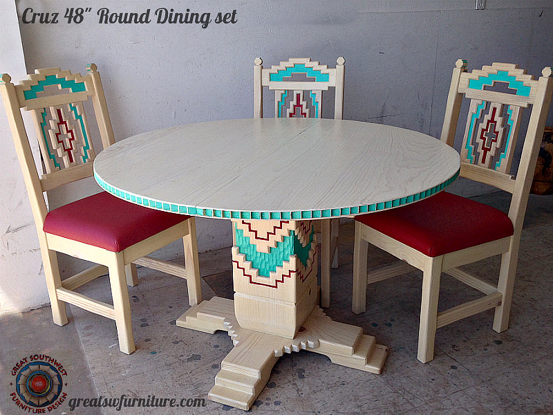 Cruz dining table with Anasazi side chairs