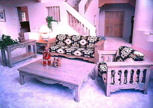 Southwestern Living Room Set Aurora, Sofa, Chairs