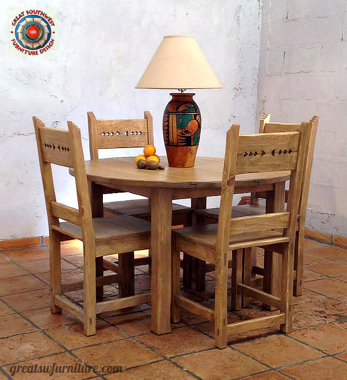 Taos dining table with side chairs