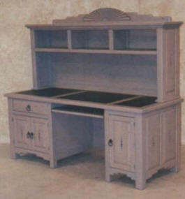 Taos Computer Desk With Hutch 2