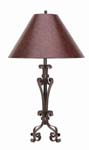 Hand Forged Iron Table Lamp 571-TB