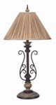 Hand Forged Iron Table Lamp 596-TB