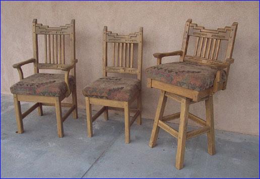 Santa Fe Arm Side Chairs Swivel Bar Stool