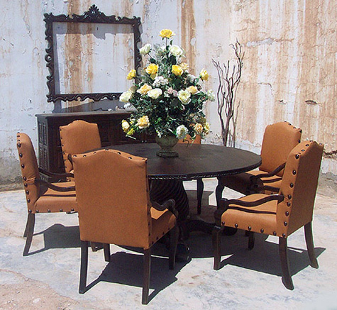 Old World Dining Set 6 Chairs